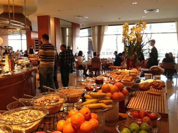 Breakfast at the Intercontinental Hotel, Budapest  Photo: Heatheronhertravels.com