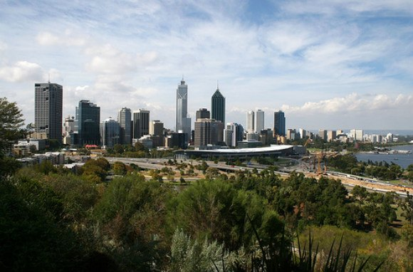 The Perth Skyline Photo: Ole Reidar Johansen of Flickr