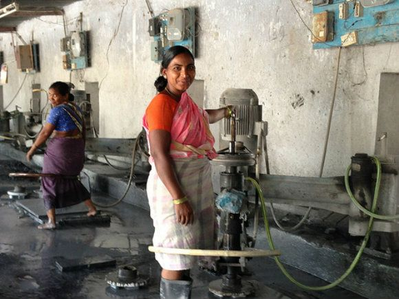 Stone polishing factory in Andhra Pradesh, India Photo: Heatheronhertravels.com