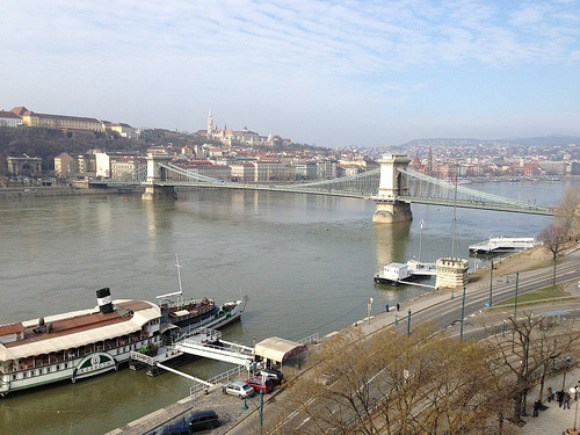 View of the Chain Bridge from Intercontinental Hotel, Budapest Photo: Heatheronhertravels.com
