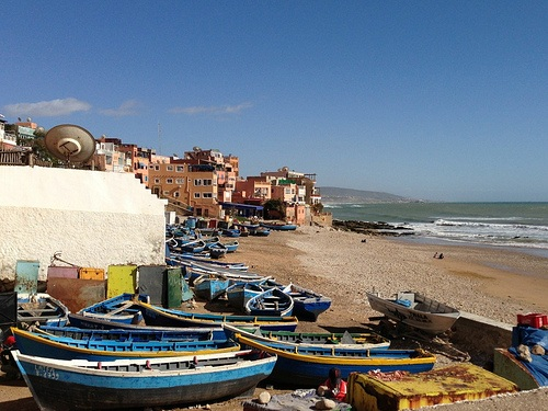Fishing boats at Taghazout, Morocco Photo: Heatheronhertravels.com