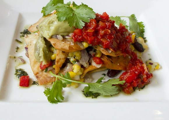 Paprika Nachos with Sweet Corn and Bean Salsa Photo: Pondspider of Flickr