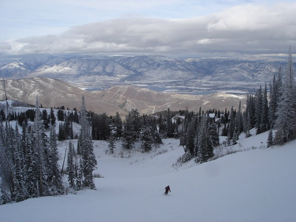 The scenery at Snowbasin