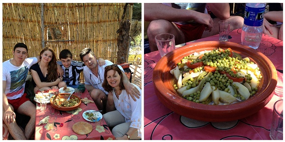 Enjoying our Moroccan tagine at Paradise Valley, Morocco Photo: Heatheronhertravels.com