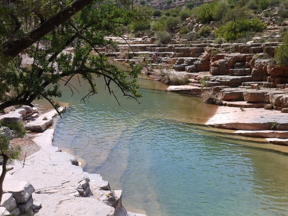 The first swimming place at Paradise Valley, Morocco Photo: Heatheronhertravels.com