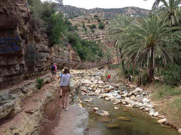 Walking to the start of Paradise Valley, Morocco Photo: Heatheronhertravels.com