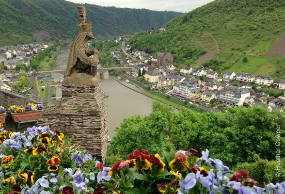 View of the Mosel from the Castle at Cochem Photo: Heatheronhertravels.com
