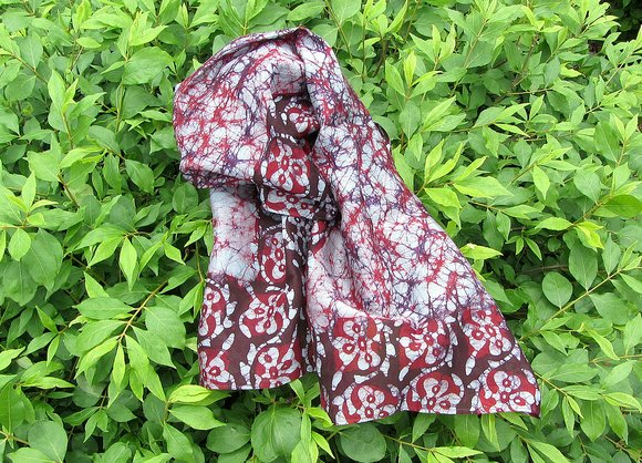 Novica and cotton scarf 'Autumn Mystique' made in India Product ID 181766 $34.95