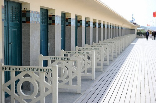 Deauville Beach huts by Guillaume Paumier