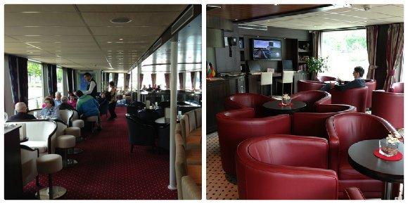 Left: The Panorama Bar Right: The Amadeus Club on the Amadeus Princess Photo: Heatheronhertravels.com