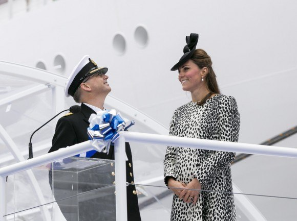 The Duchess of Cambridge attends the Princess Cruises ship naming ceremony in Southampton, England Photo: Steve Dunlop, Princess Cruises