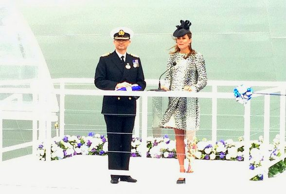 The Duchess of Cambridge names the Royal Princess Cruise ship Photo: Heatheronhertravels.com