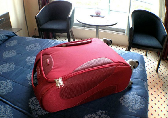 My Samsonite Panayio case on the Rhine River Cruise Photo: Heatheronhertravels.com