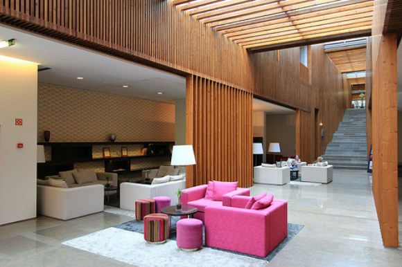 The main atrium of Inspira Santa Marta Hotel, Lisbon Photo: www.oneika-the-traveller.com