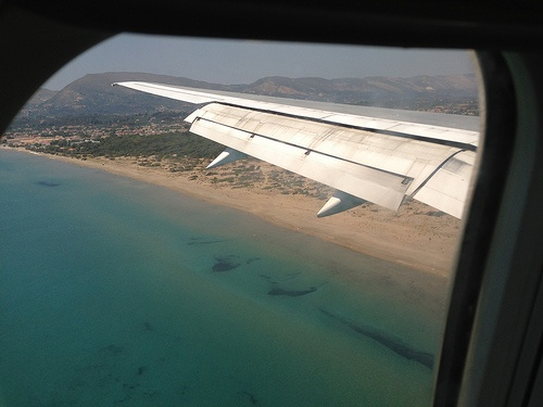 Landing over Laganas on Zante Photo: Heatheronhertravels.com