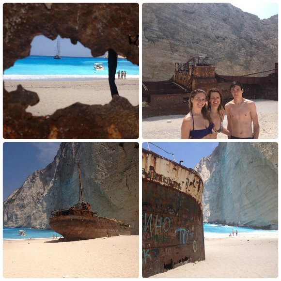 On Navagio or Shipwreck beach on Zakynthos, Greece Photo: Heatheronhertravels.com