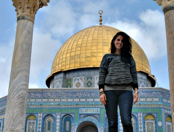Anabelle Harari at the Dome of the Rock Photo: LocalBelle.com