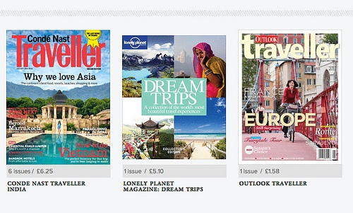 Zinio travel magazines