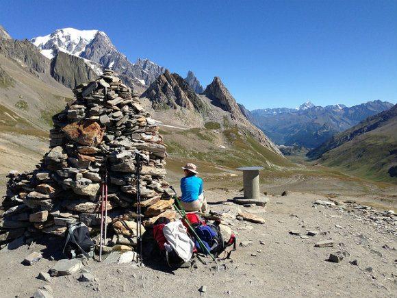 Col de la Seigne on the Tour de Mont Blanc Photo: Heatheronhertravels.com