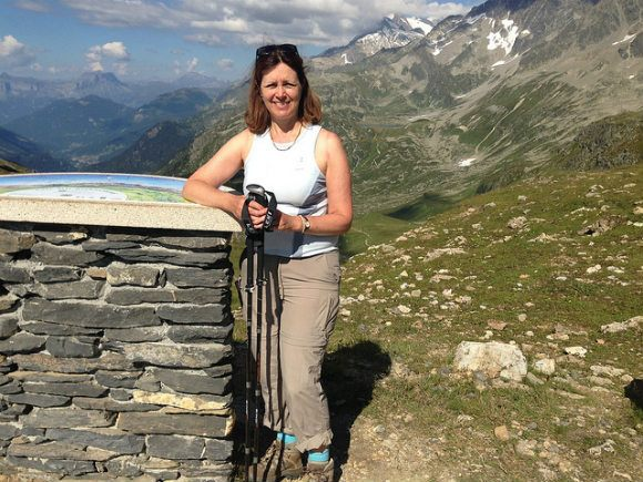 Viewpoint at Col de Bonhomme on the Tour de Mont Blanc Photo: Heatheronhertravels.com