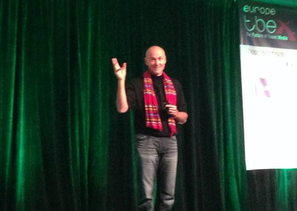 Chip Conley speaks at TBEX Dublin