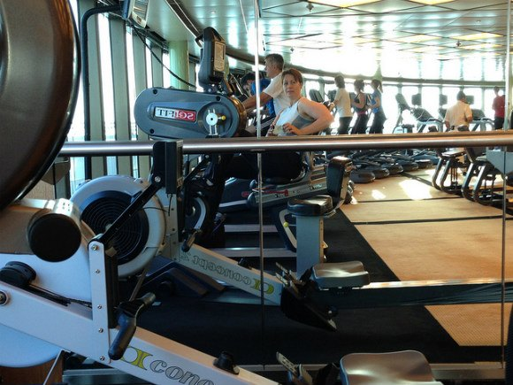 Gym on Crown Princess Photo: Heatheronhertravels.com