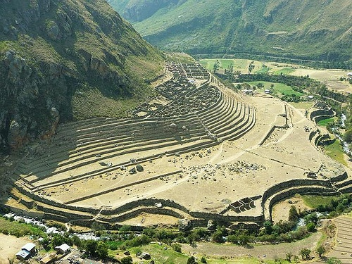 The inca site of Llactapata in Peru Photo: Jonathan Lillie