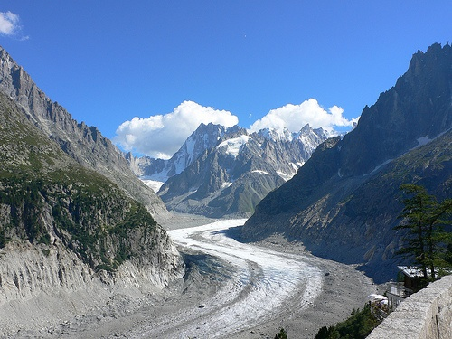 The Mer de Glace glacier above Chamonix Photo: Heatheronhertravels.com