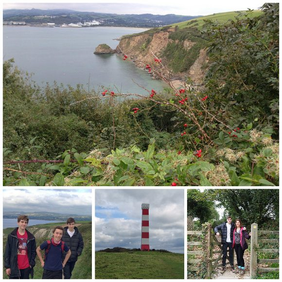 Our walk from Polkerris to Gribbin point Photo: Heatheronhertravels.com
