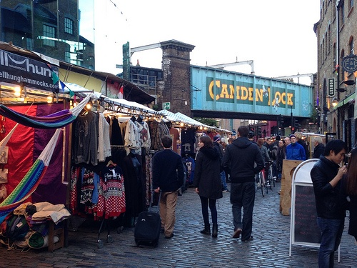 Clothing and Vintage at Camden Lock Sunday Market Photo: Heatheronhertravels.com
