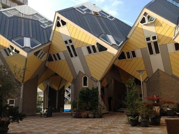 Cube houses in Rotterdam Photo: Heatheronhertravels.com