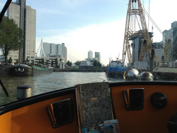 In the water taxi in Rotterdam Photo: Heatheronhertravels.com