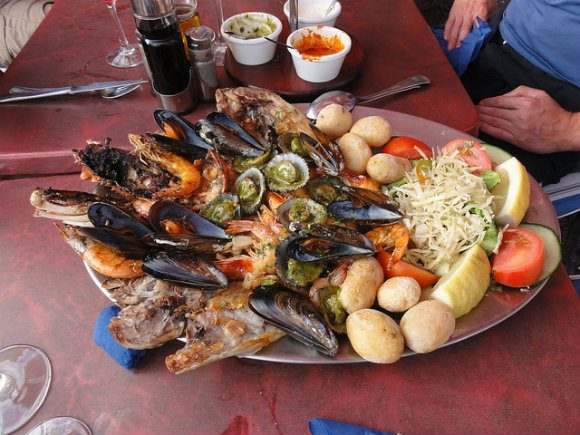 Lanzarote seafood dish Photo: Kent Wang of Flickr