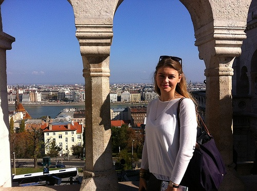 Sophie-Anne at the Fisherman's Bastion in Budapest Photo: Heatheronhertravels.com