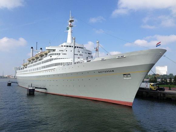 SS Rotterdam seen from the Spido Harbour tour Photo: Heatheronhertravels.com