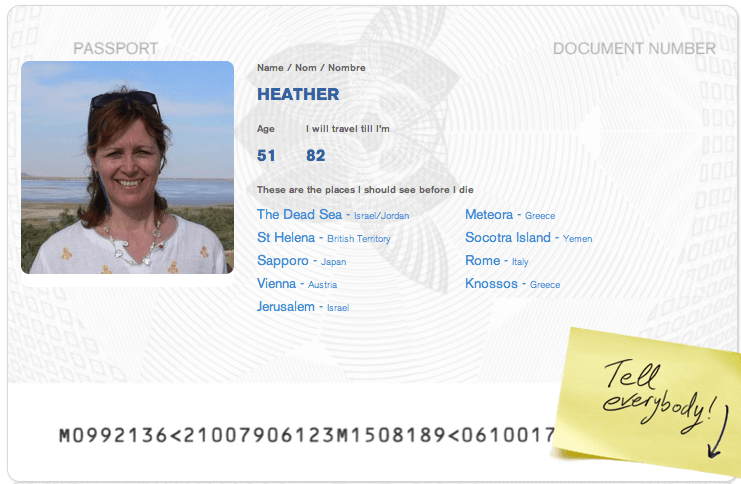 Heather's passport from HomeAway