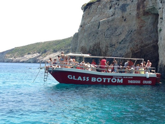 Boat trip to the Blue Caves on Zante, Greece Photo: Heateronhertravels.com