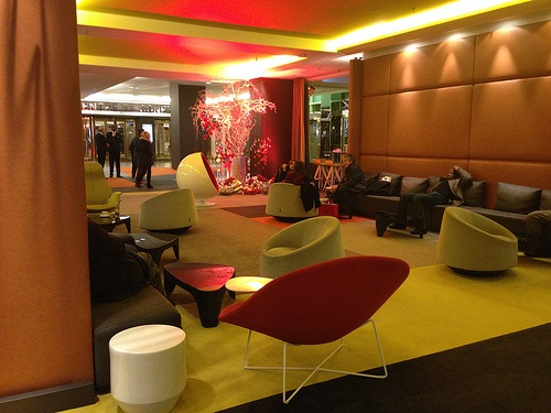 Ground floor lounge of Hotel Pullman Paris Montparnasse Photo: Heatheronhertravels.com