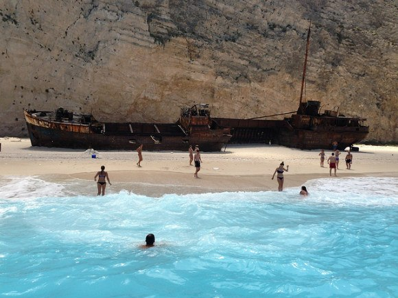 Navagio or Shipwreck beach on Zante, Greece Photo: Heatheronhertravels.com
