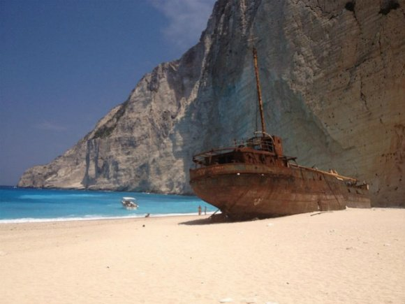 Shipwreck cove, Navagio on Zante Photo: Heatheronhertravels.com