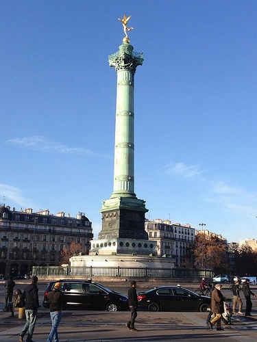 The July Column at Bastille, Paris Photo: Heatheronhertravels.com