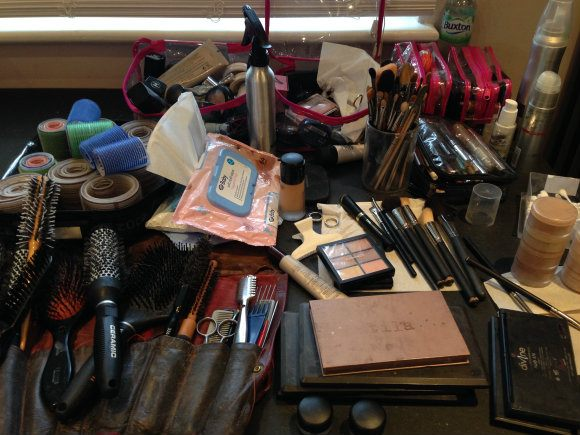 All this make-up for a natural look! Photo: Heatheronhertravels.com