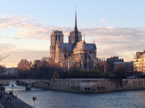 Notre Dame at sunset, Paris Photo: Heatheronhertravels.com
