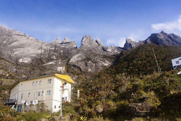 Laban Rata guest house, the half way point for a well earned feed and rest