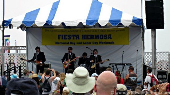 Beatles tribute band at Fiesta Hermosa Photo: WonderfulWanderings.com