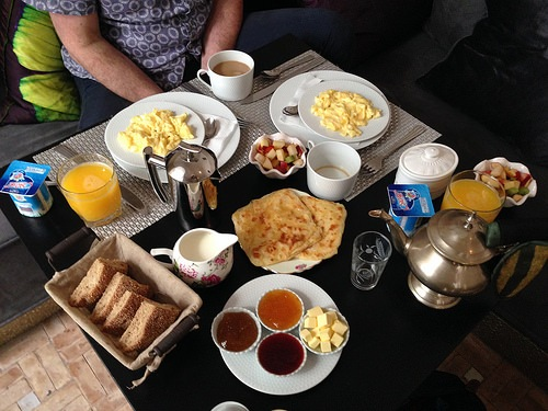 Breakfast at Riad Star in Marrakech Photo: Heatheronhertravels.com