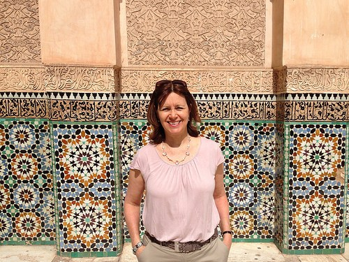 Heather at Medersa Ben Youssef in Marrakech Photo: Heatheronhertravels.com