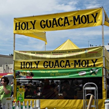 Holy-Guaca-Moly stall at Fiesta Hermosa Photo: WonderfulWanderings.com