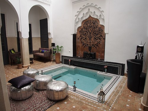 The inner courtyard of Riad Star in Marrakech Photo: Heatheronhertravels.com