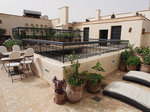 The terrace at Riad Star in Marrakech Photo: Heatheronhertravels.com